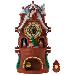 Santa's Musical Christmas Clock With Motion and Light, , large