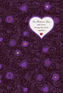 Grateful We're Together Romantic Musical Mother's Day Card,