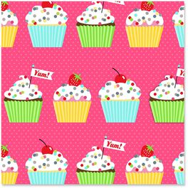 Colorful Cupcakes Wrapping Paper Roll, 27 sq. ft., , large