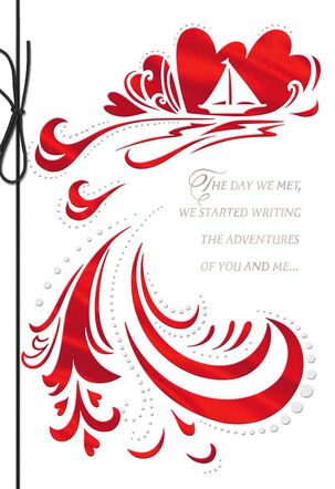 Boat on Water Valentine's Day Card for Husband
