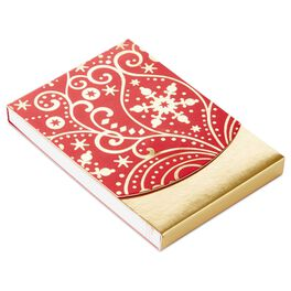 Winter Scrollwork Purse Notepad, , large
