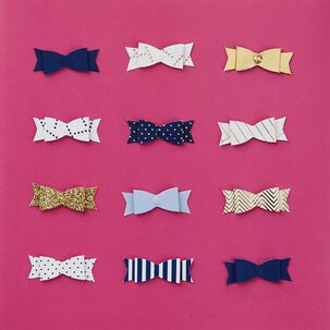 Preppy Bows Celebrate in Style Birthday Card