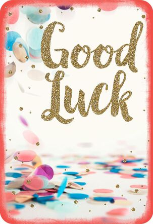 Colorful Confetti Good Luck Card