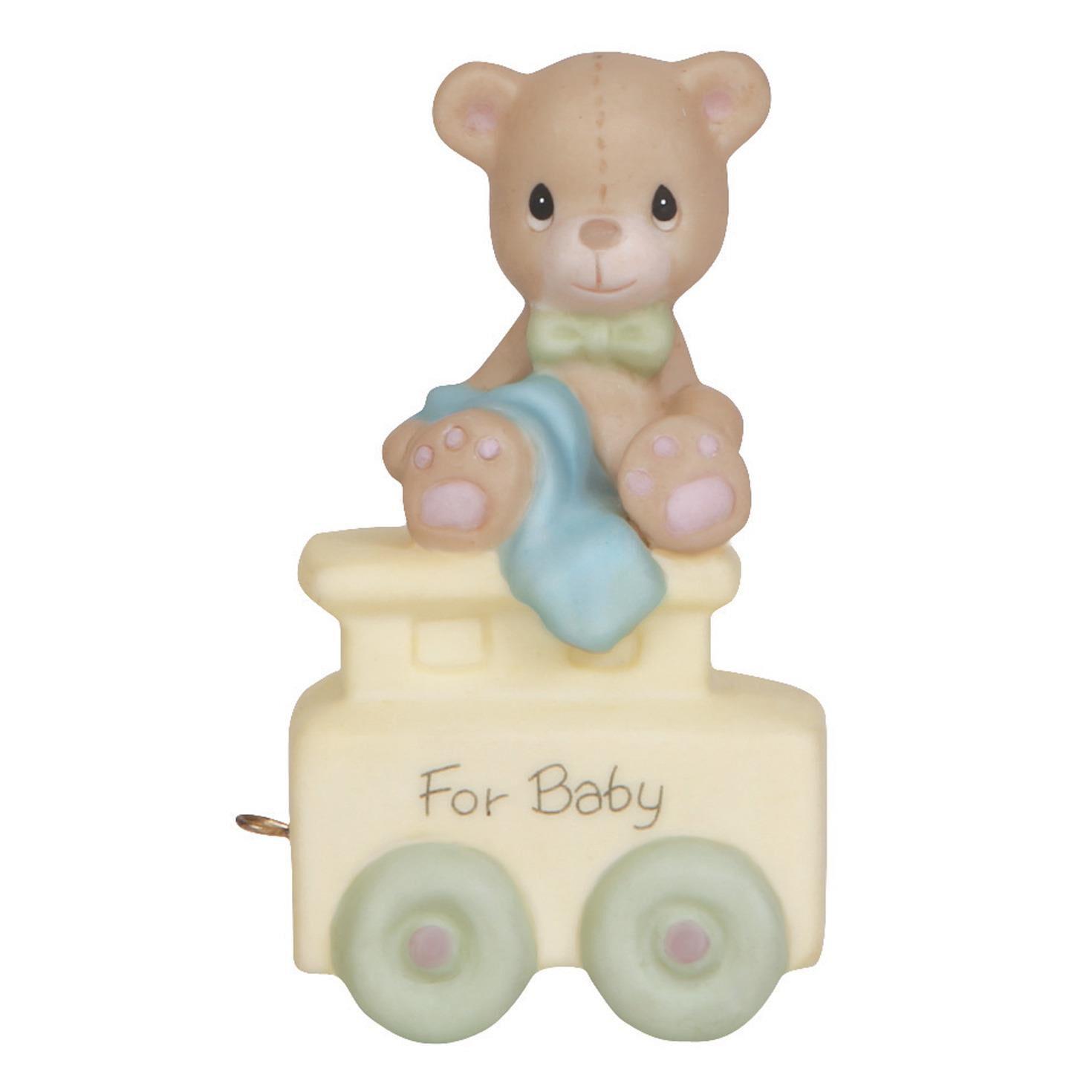 precious moments new baby teddy bear figurine figurines hallmark