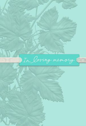 Loving Memories Sympathy Card