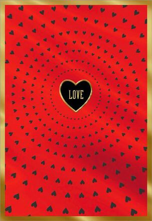 Love Foil Hearts Husband Valentine's Day Card