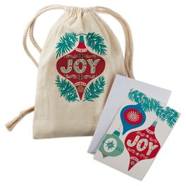 Joy to Your World Christmas Cards in Canvas Bag, 16 Count, , large