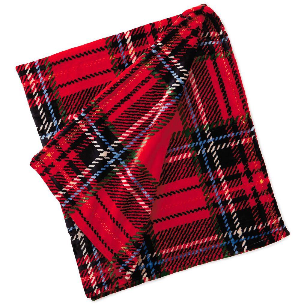 8443074642 Holiday Plaid Throw Blanket