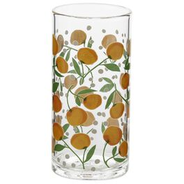 Oranges and Dots Glass Tumbler, 15.5 oz., , large
