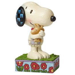 Jim Shore Hug Time—Snoopy and Woodstock Hugging Figurine, , large