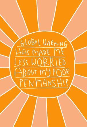 Thanks, Global Warming Birthday Card