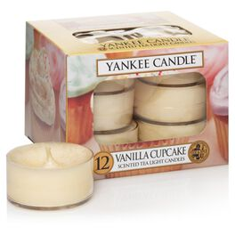 Vanilla Cupcake Tea Light Candles, Set of 12 by Yankee Candle®, , large