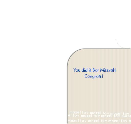 You Did It! Bar Mitzvah Money Holder Card,