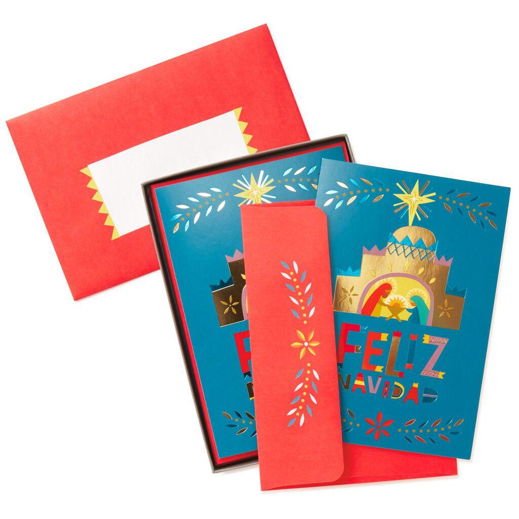 Gold Manger Spanish-Language Christmas Cards, Box of 16 - Boxed ...