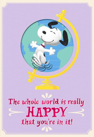 Peanuts® On Top of the World Mother's Day Card