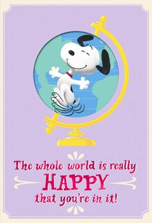 Peanuts® On Top of the World Mother's Day Card,