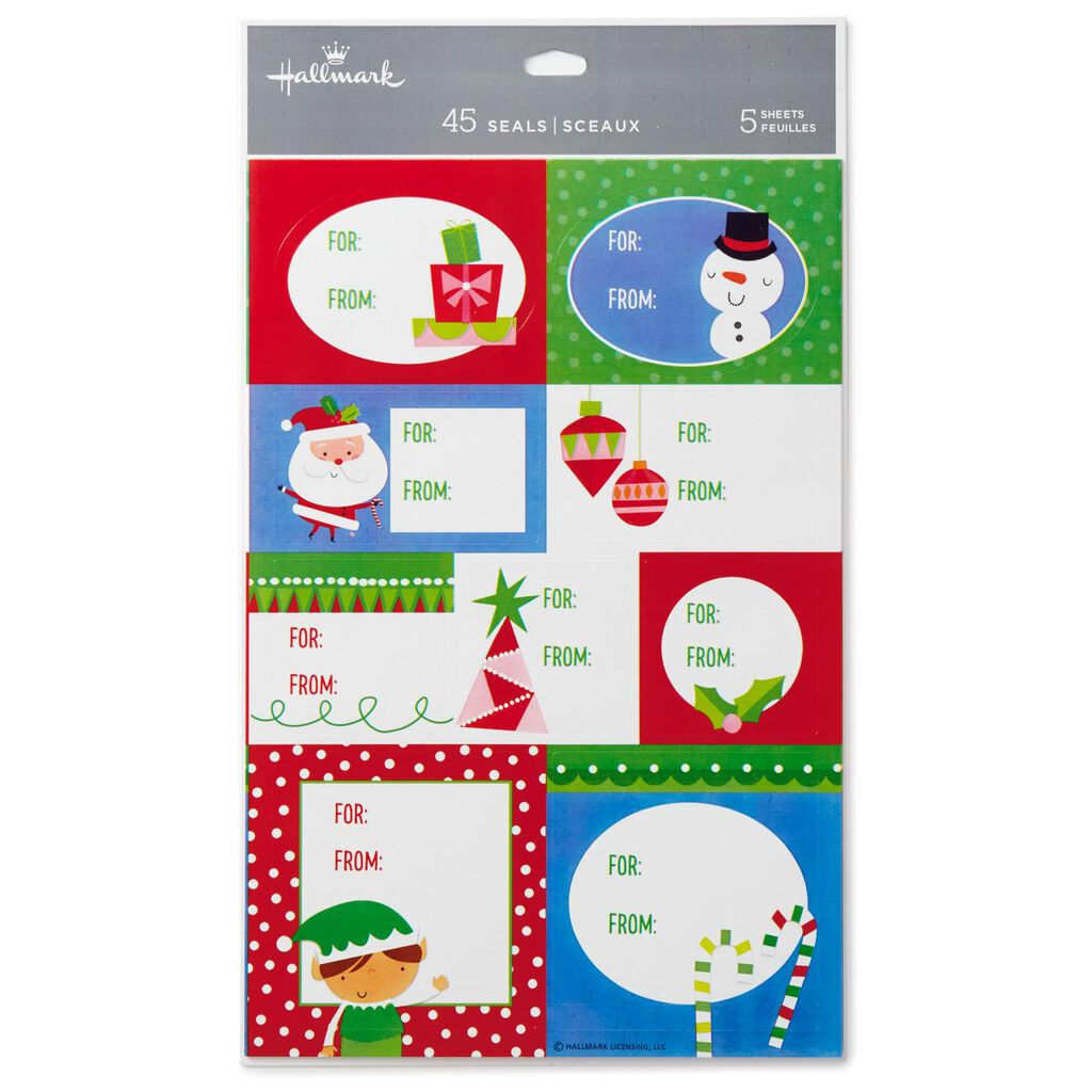 Christmas Gift Tags For Kids.Cute Kids Self Adhesive Christmas Gift Tags Pack Of 45