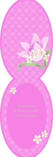 Pink Lily Flowers Easter Card,