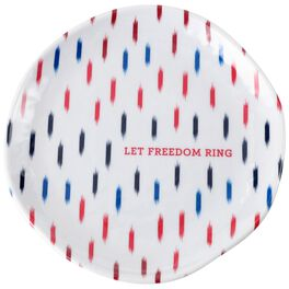 Freedom Ring Patriotic Small Melamine Plates, Set of 4, , large
