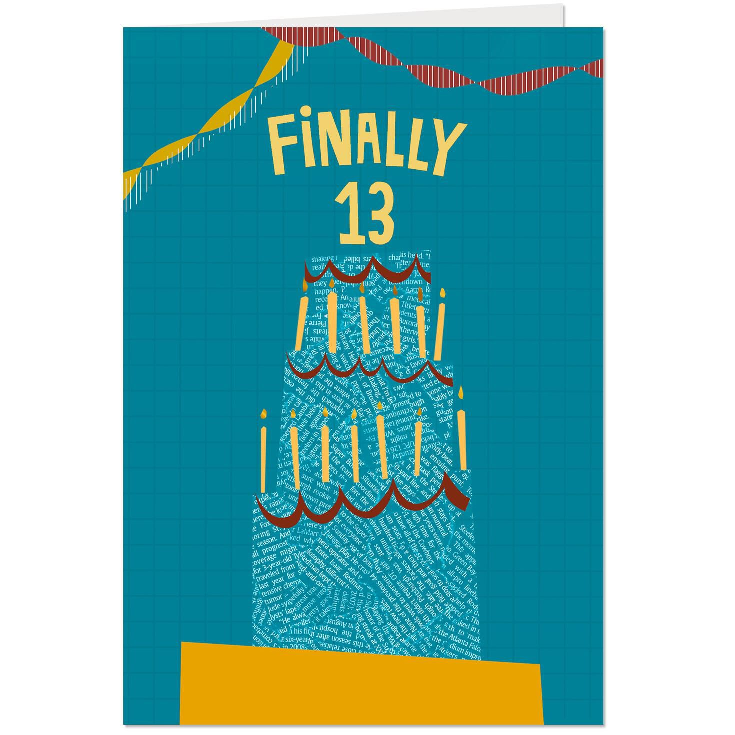 Finally 13th Birthday Card Greeting Cards Hallmark