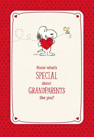 Peanuts® Special Grandparents Valentine's Day Card