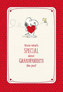 Peanuts® Special Grandparents Valentine's Day Card,
