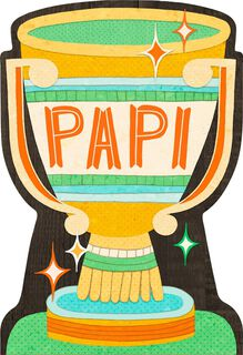 Por Papi Trophy Spanish-Language Father's Day Card,