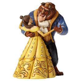 Jim Shore® Beauty and the Beast Dancing Figurine, 25th Anniversary, , large