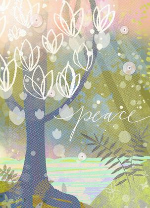 Peace Tree Blank Just Because Card