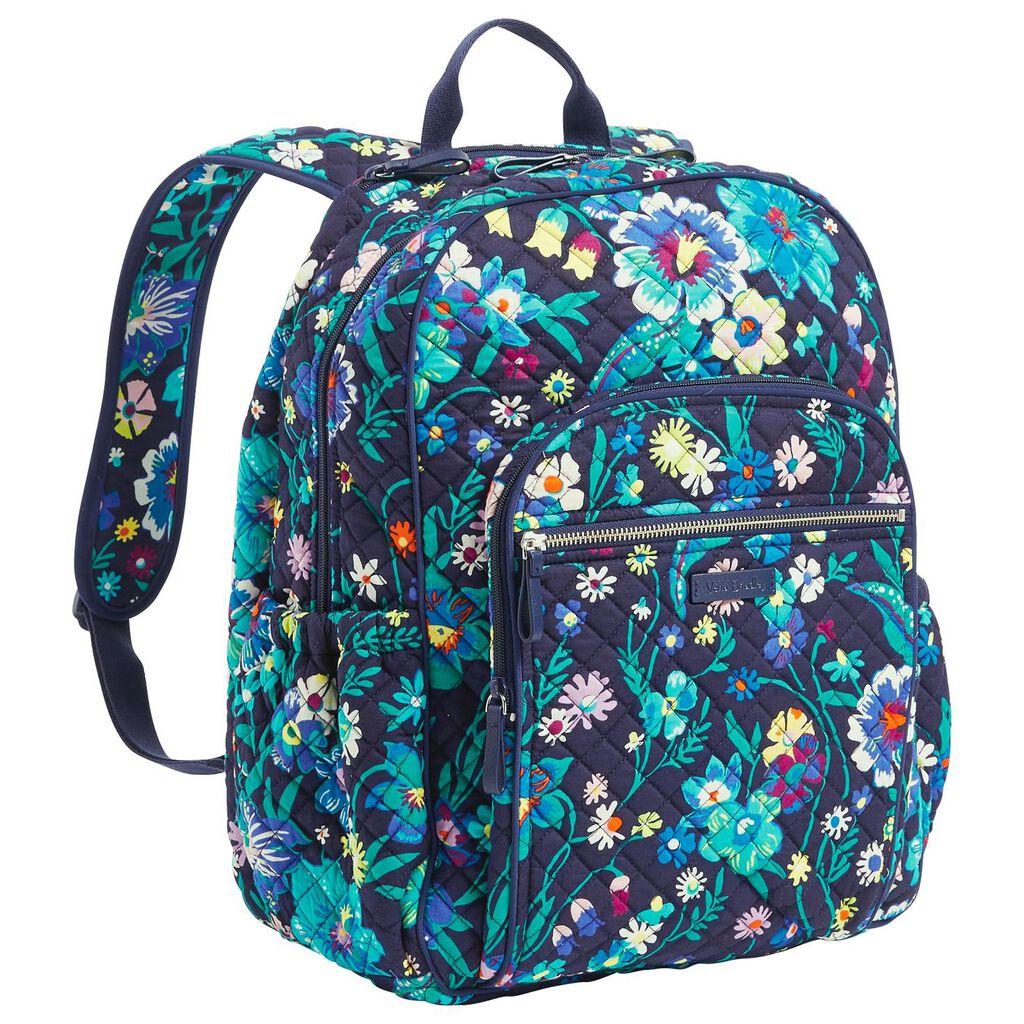 5efba8f50 Vera Bradley Iconic Campus Backpack in Moonlight Garden - Handbags ...
