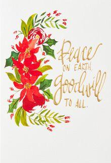 Blessings Wreath Christmas Card,