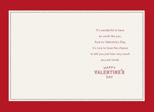 you are loved valentines day card for uncle