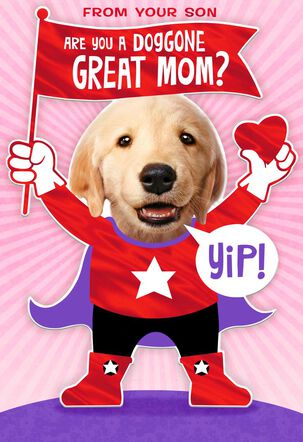 Doggone Great Mom Valentine's Day Card From Son