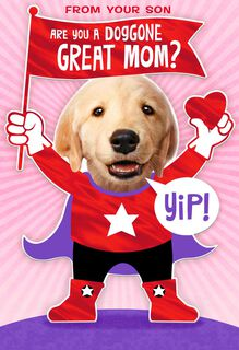 Doggone Great Mom Valentine's Day Card From Son,