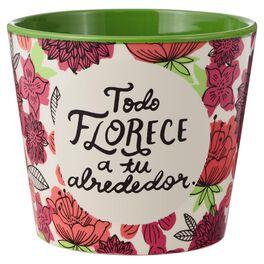 Todo Florece Painted Flowerpot, , large