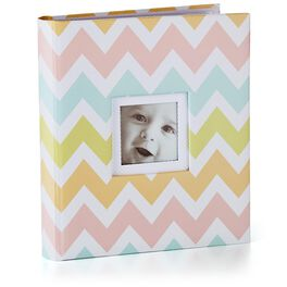 Chevron Three-Ring Baby Book, , large