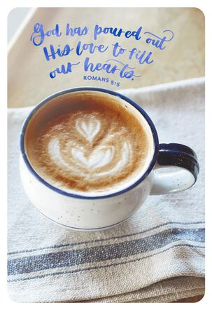 Cappuccino Cup Blank Religious Thinking of You Cards, Pack of 10
