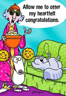 Maxine™ Hot Damn Funny Congratulations Card,
