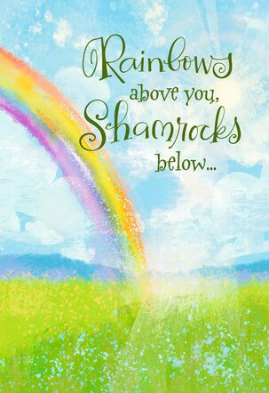 Rainbow and Shamrock Blessings St. Patrick's Day Musical Card