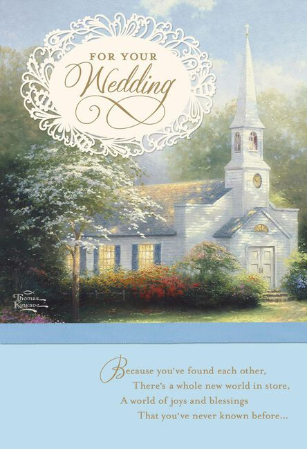 Thomas Kinkade Hometown Chapel Wedding Card Greeting Cards Hallmark