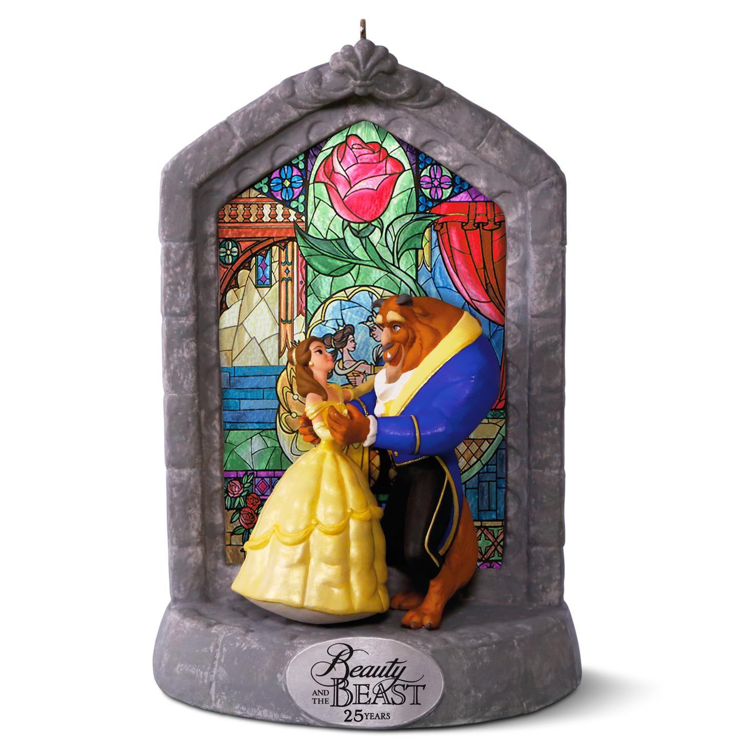 25th wedding anniversary christmas ornament - Disney Beauty And The Beast 25th Anniversary Musical Ornament Keepsake Ornaments Hallmark