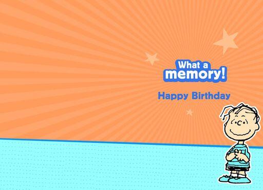 Honesty, Courage, Integrity Linus Birthday Card,