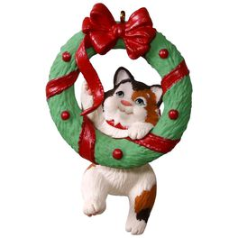 Mischievous Kittens Wreath Ornament, , large