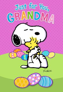 Peanuts® Snoopy and Woodstock Easter Card For Grandma,