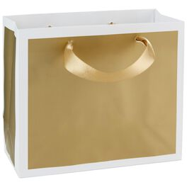 """Gold Small Gift Bag, 5.5"""", , large"""