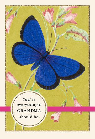 Blue Butterfly Mother's Day Card for Grandma