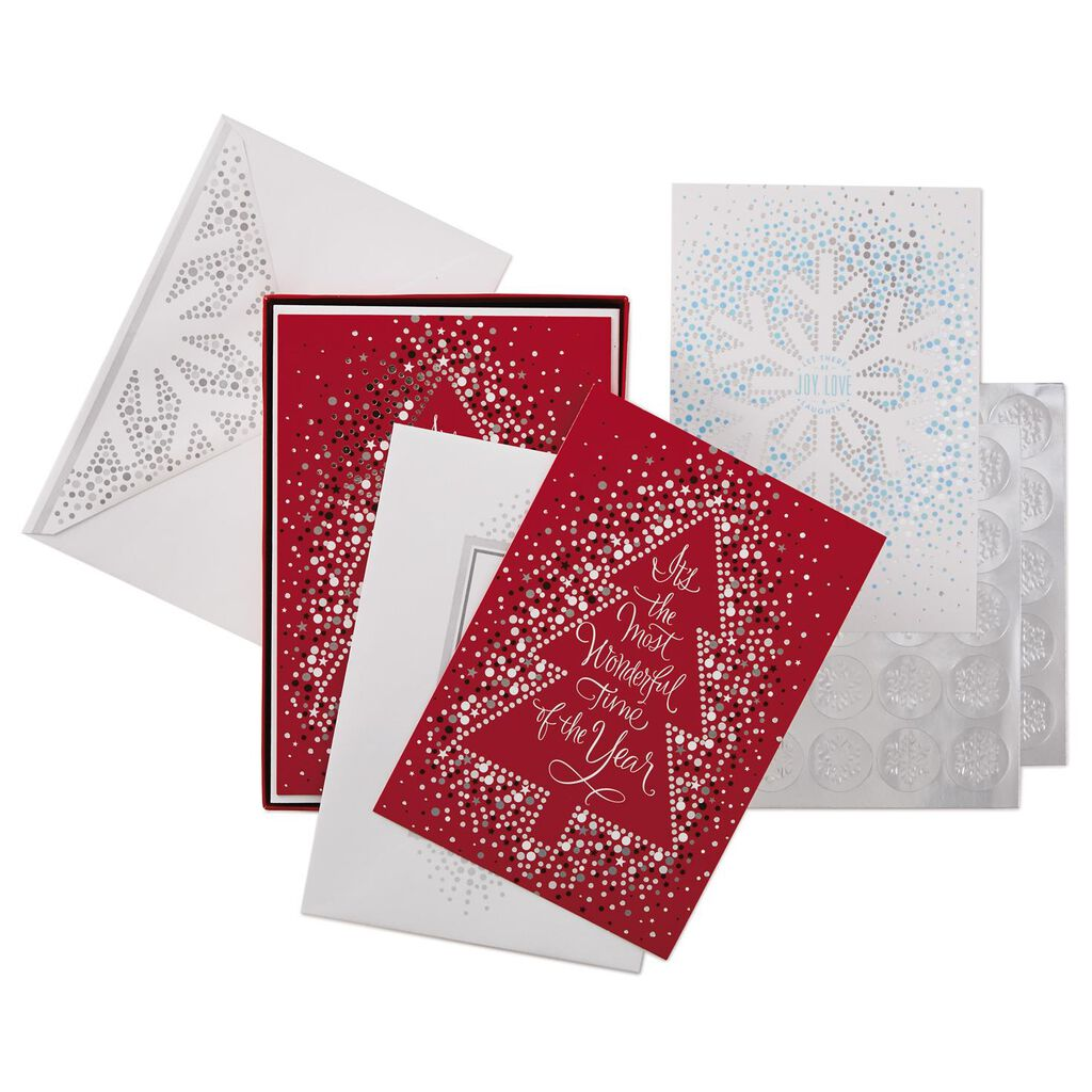 Joy And Love Assorted Christmas Cards Box Of 40 Boxed Cards