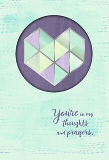 Watercolor Faceted Heart Encouragement Card,