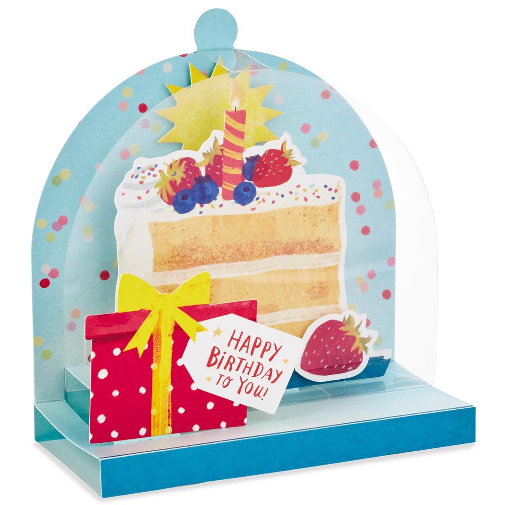 Cake Cloche Pop Up Birthday Card