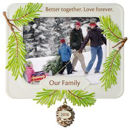 Better Together Family Photo Holder Ornament, , large